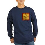 PHA on the square. Long Sleeve Dark T-Shirt