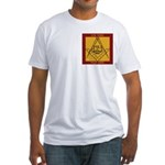 PHA on the square. Fitted T-Shirt