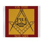PHA on the square. Throw Blanket