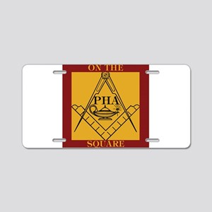 PHA on the square. Aluminum License Plate