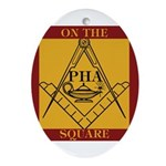PHA on the square. Oval Ornament