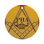 PHA on the square. Round Ornament