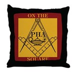 PHA on the square. Throw Pillow