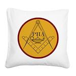 Prince Hall Light Square Canvas Pillow