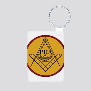 Prince Hall Light Aluminum Photo Keychain