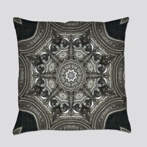 vintage astrology metal mandala Everyday Pillow