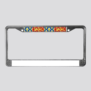 Royal Arms of England and Fran License Plate Frame