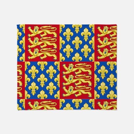 Royal Arms of England and France Throw Blanket