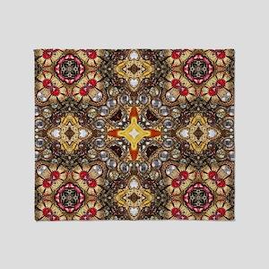 vintage gold cross scandinavian  Throw Blanket