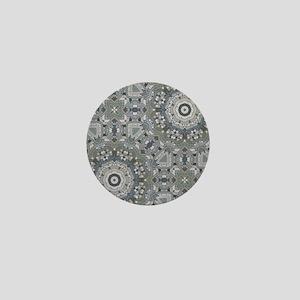 summer grey beach mosiac  Mini Button