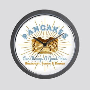 Pancakes Good Idea Wall Clock