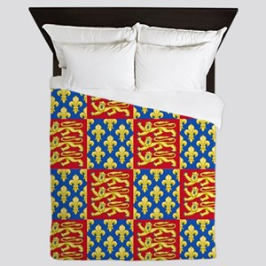Royal Arms of England and France Queen Duvet