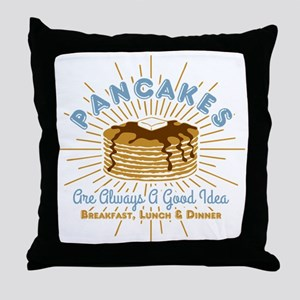 Pancakes Good Idea Throw Pillow
