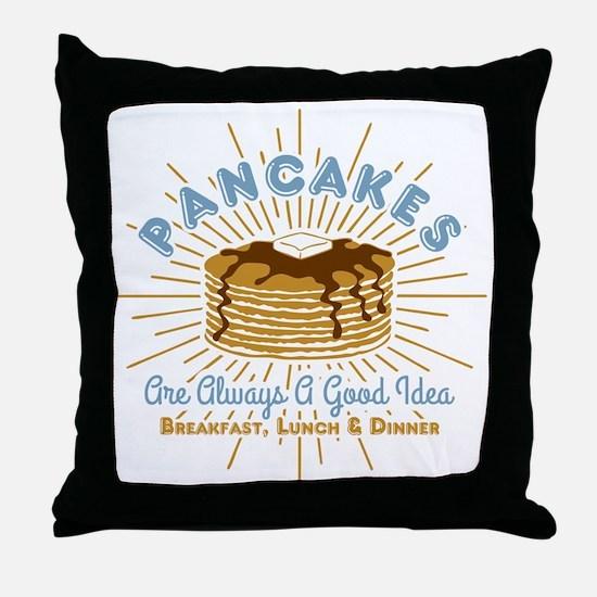 Pancakes Good Idea Throw Pillow