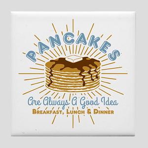Pancakes Good Idea Tile Coaster