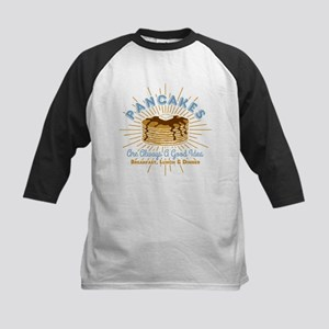 Pancakes Good Idea Kids Baseball Jersey
