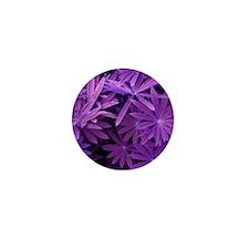 Purple Petals Mini Button