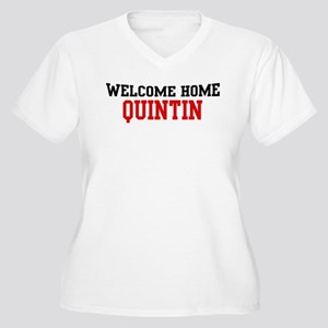 Welcome home QUINTIN Women's Plus Size V-Neck T-Sh