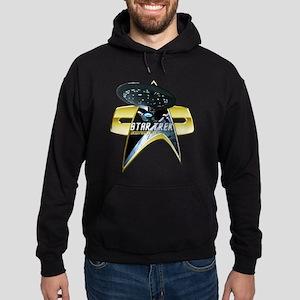 StarTrek Enterprise 1701 D Com badge 2 Hoodie