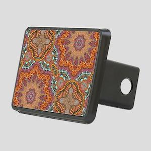 turquoise orange bohemian  Rectangular Hitch Cover
