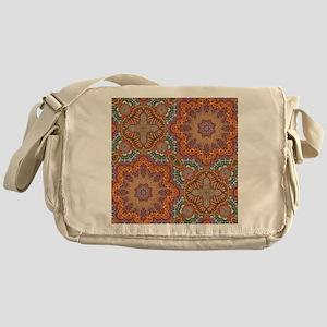 turquoise orange bohemian moroccan  Messenger Bag