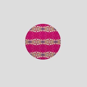 pink fuchsia bohemian hipster Mini Button