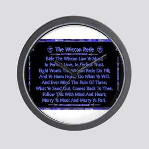 Rede in Blue on Black Wall Clock