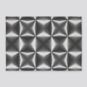 silver geometric pattern industrial 5'x7'Area Rug