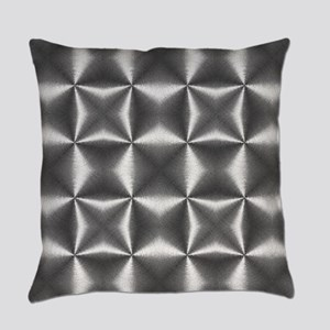 silver geometric pattern industria Everyday Pillow