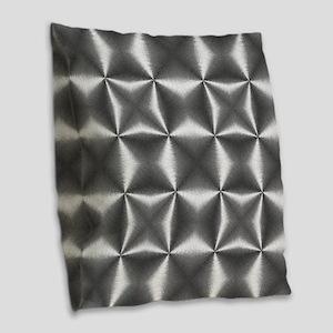 silver geometric pattern indus Burlap Throw Pillow