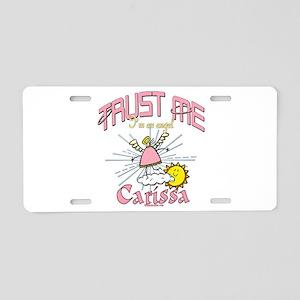 Carissa Angel Aluminum License Plate