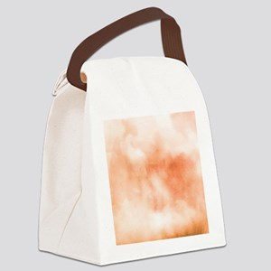 Coral ikat watercolor hipster omb Canvas Lunch Bag