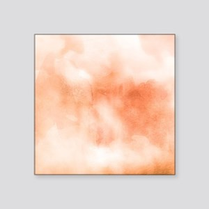 """Coral ikat watercolor hipst Square Sticker 3"""" x 3"""""""