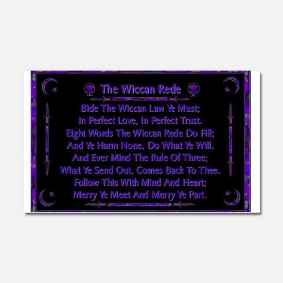 Rede Violet on Black Car Magnet 20 x 12