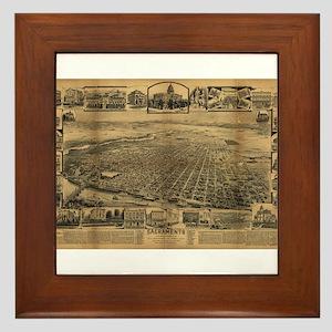 Sacramento, CA. 1891 Framed Tile