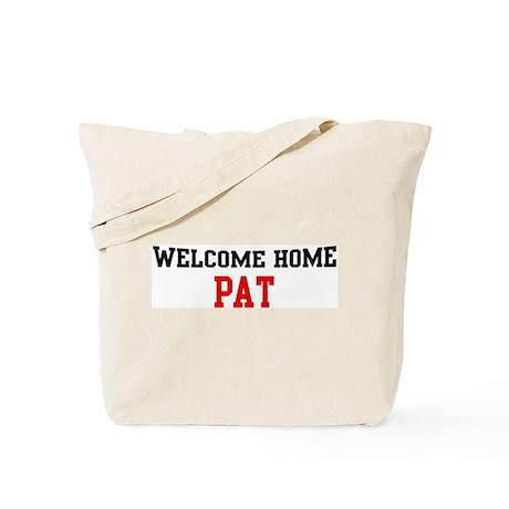 Welcome home PAT Tote Bag