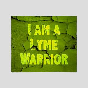 I Am A Lyme Warrior Throw Blanket