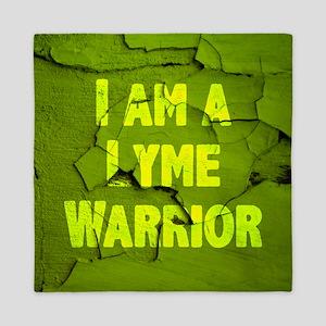 I Am A Lyme Warrior Queen Duvet