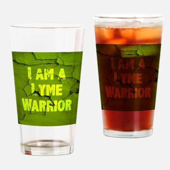 I Am A Lyme Warrior Drinking Glass
