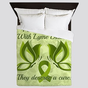 I Love Someone with Lyme Disease Queen Duvet