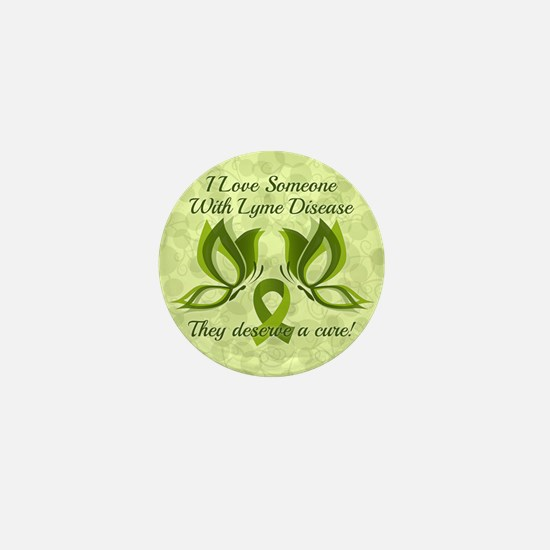 I Love Someone with Lyme Disease Mini Button