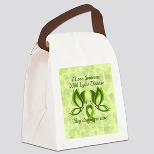 I Love Someone with Lyme Disease Canvas Lunch Bag