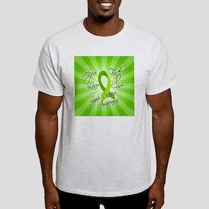 Lyme Disease - Hope Faith Love Cure Light T-Shirt