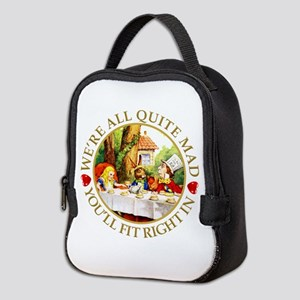 Alice Encounters Talking Flower Neoprene Lunch Bag