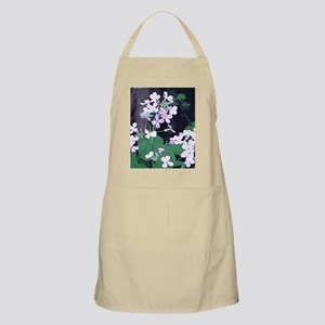 purple white flowers Apron