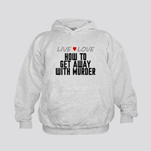 Live Love How to Get Away with Murder Kid's Hoodie