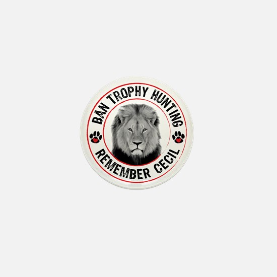 Cecil- Ban Trophy Hunting Mini Button