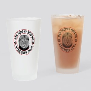 Cecil- Ban Trophy Hunting Drinking Glass