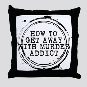 How to Get Away with Murder Addict Stamp Throw Pil