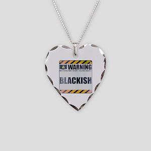 Warning: Blackish Necklace Heart Charm